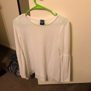 Angels Size Small Flowy Top with Puffy Sleeves
